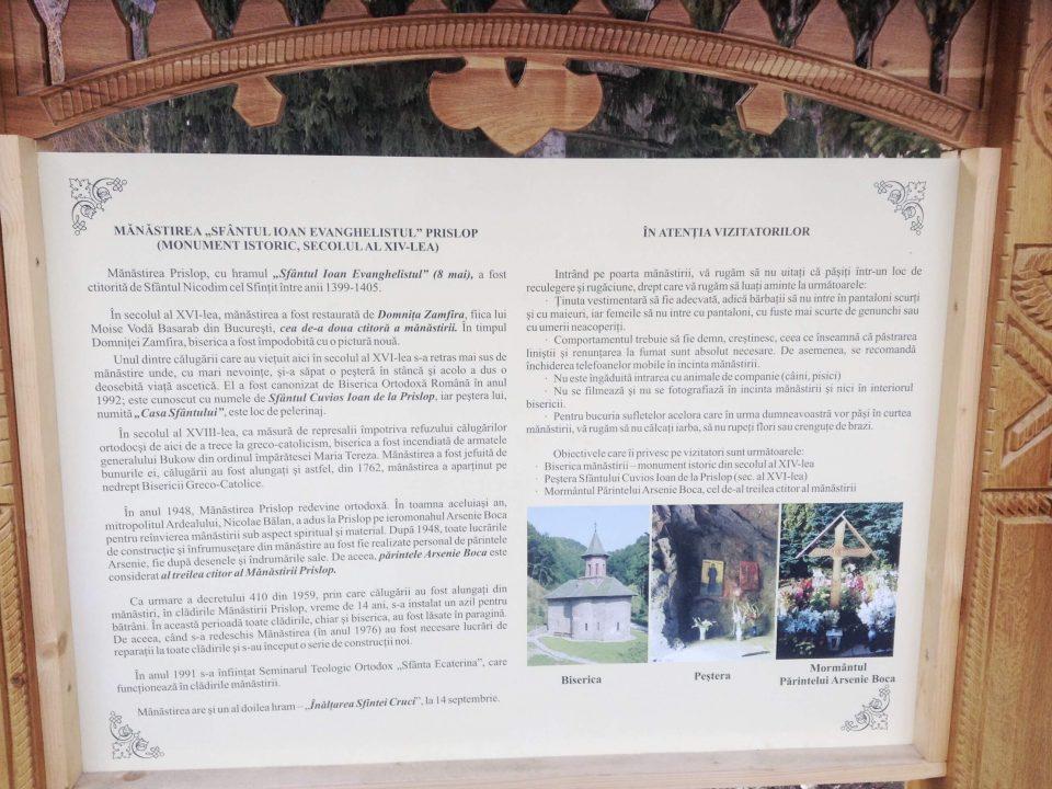 Istoria Mănăstirii Prislop