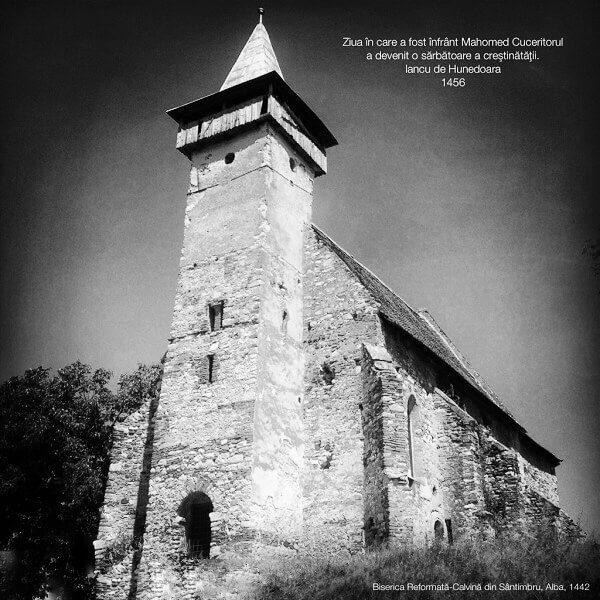 Biserica medievală din Sântimbru, ALBA, restaurată de către IANCU DE HUNEDOARA în 1442