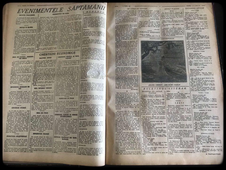 [ pagini 2 3 ] [ perioada interbelică ] [ Gazeta de Duminică ] [ 3 iulie 1927 ]
