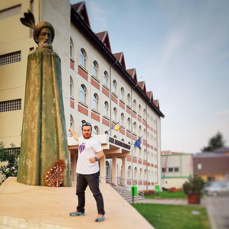 Avram Iancu la monumentul lui Constantin Brâncoveanu