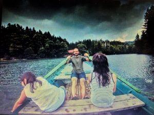Lacul BUHUI in lARG dupa ponton