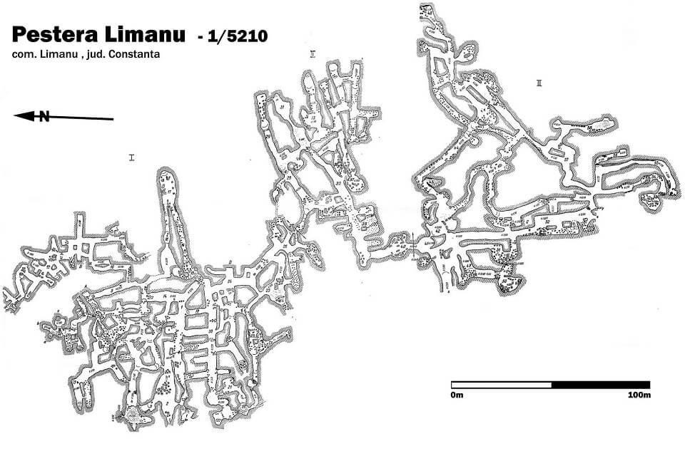 Hartă Peștera Limanu