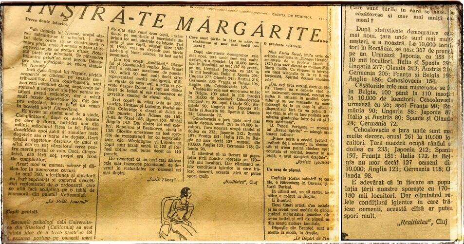 Natalitate ROMANIA 1927
