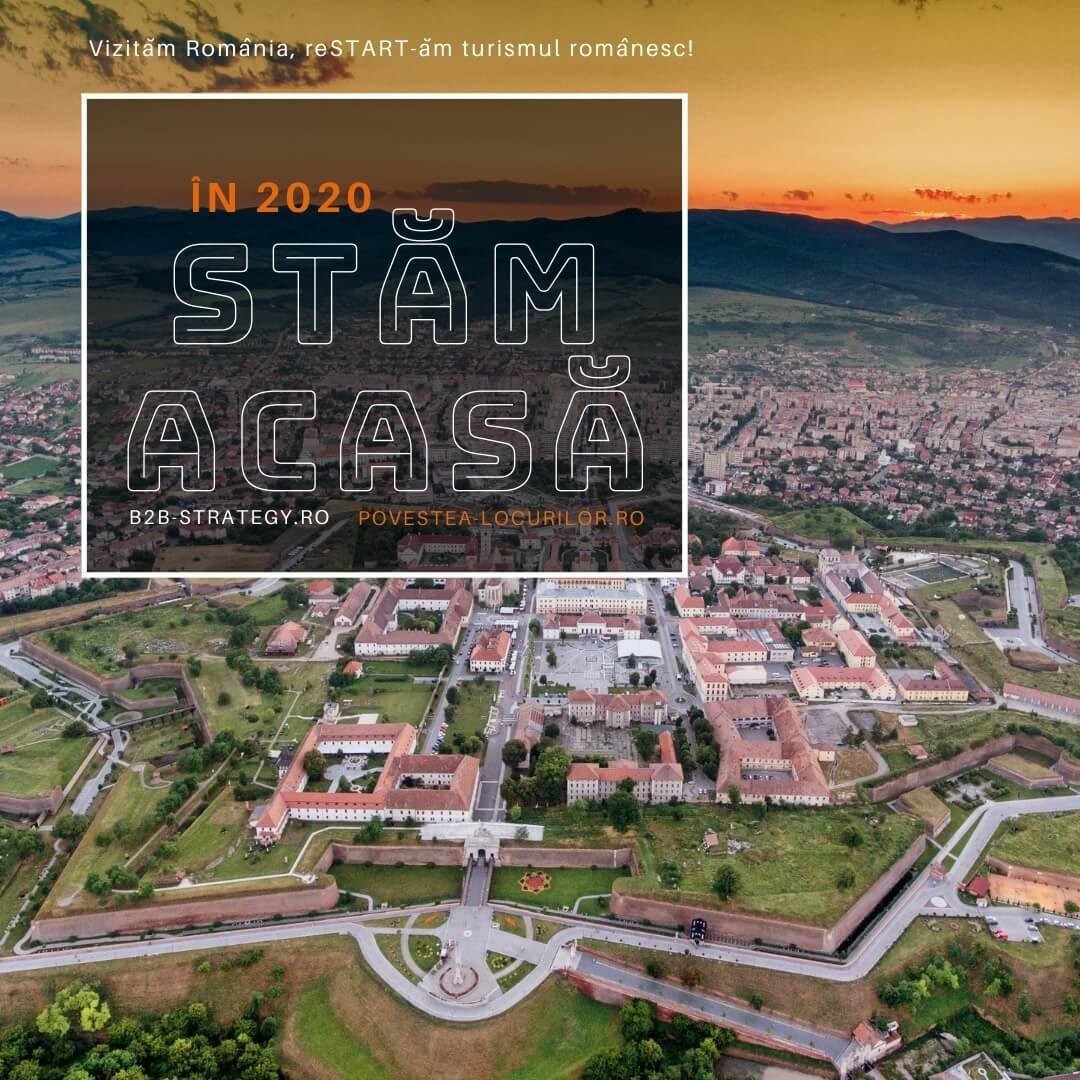 Stăm acasă în 2020. Campanie strategie turism Povestea Locurilor. Alba IULIA Castrul Carolina Principia si Museikon