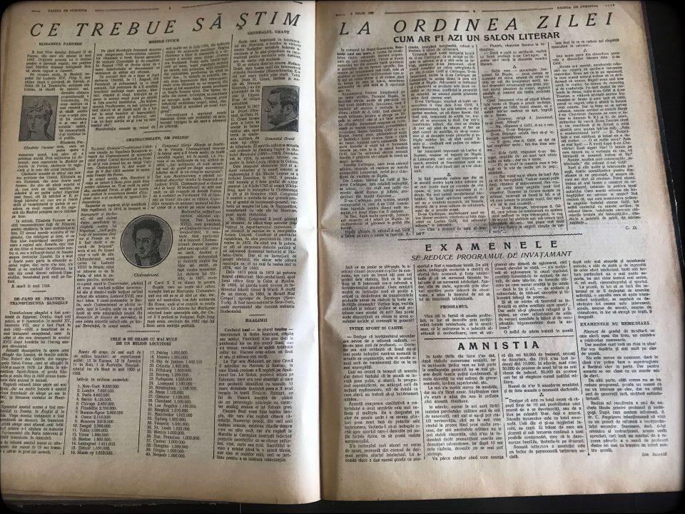 [ pagini 3 4 ] [ perioada interbelică ] [ Gazeta de Duminică ] [ 3 iulie 1927 ]