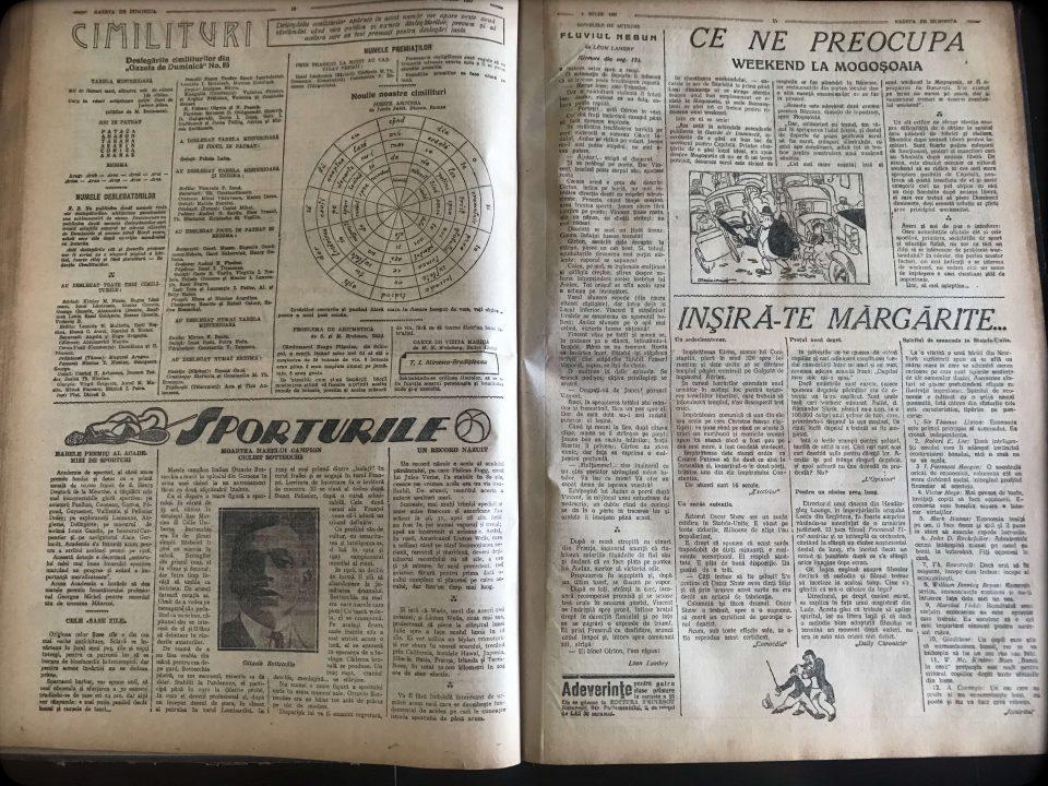 [ pagini 5 6 ] [ perioada interbelică ] [ Gazeta de Duminică ] [ 3 iulie 1927 ]